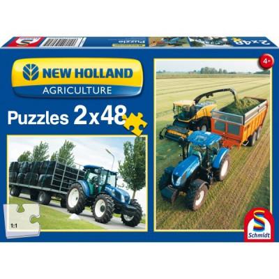 New Holland - TD5 115 / FR500: 2 x 48 piezas Puzzle