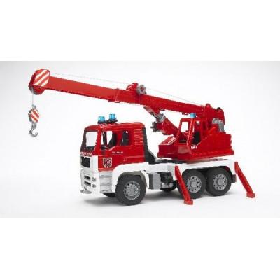 Camion Bomberos MAN con grua luz sonido - escala 1:16