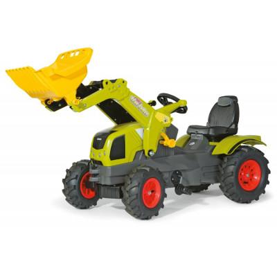 Tractor Claas Axos con pala a pedales y ruedas neumaticas