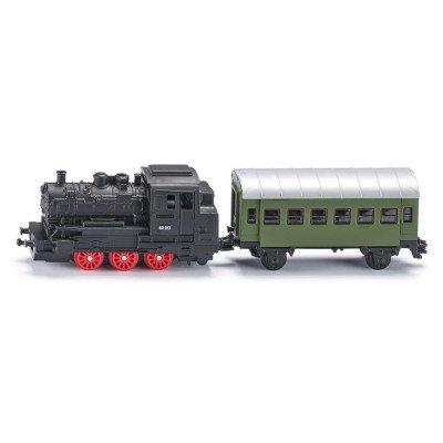 Locomotora de vapor con bagon - Blister