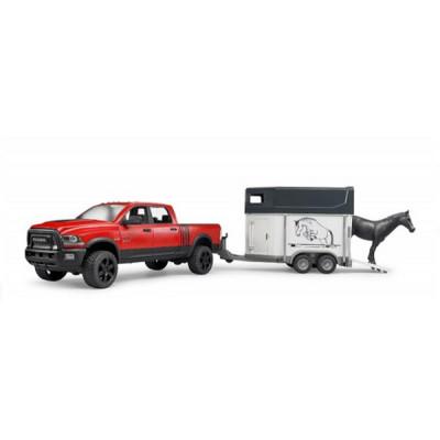 RAM 2500 Power Wagon con remolque equino y caballo - escala 1:16