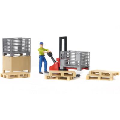 Set logistico y muñeco