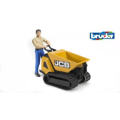 JCB dumper con muñeco - escala 1:16