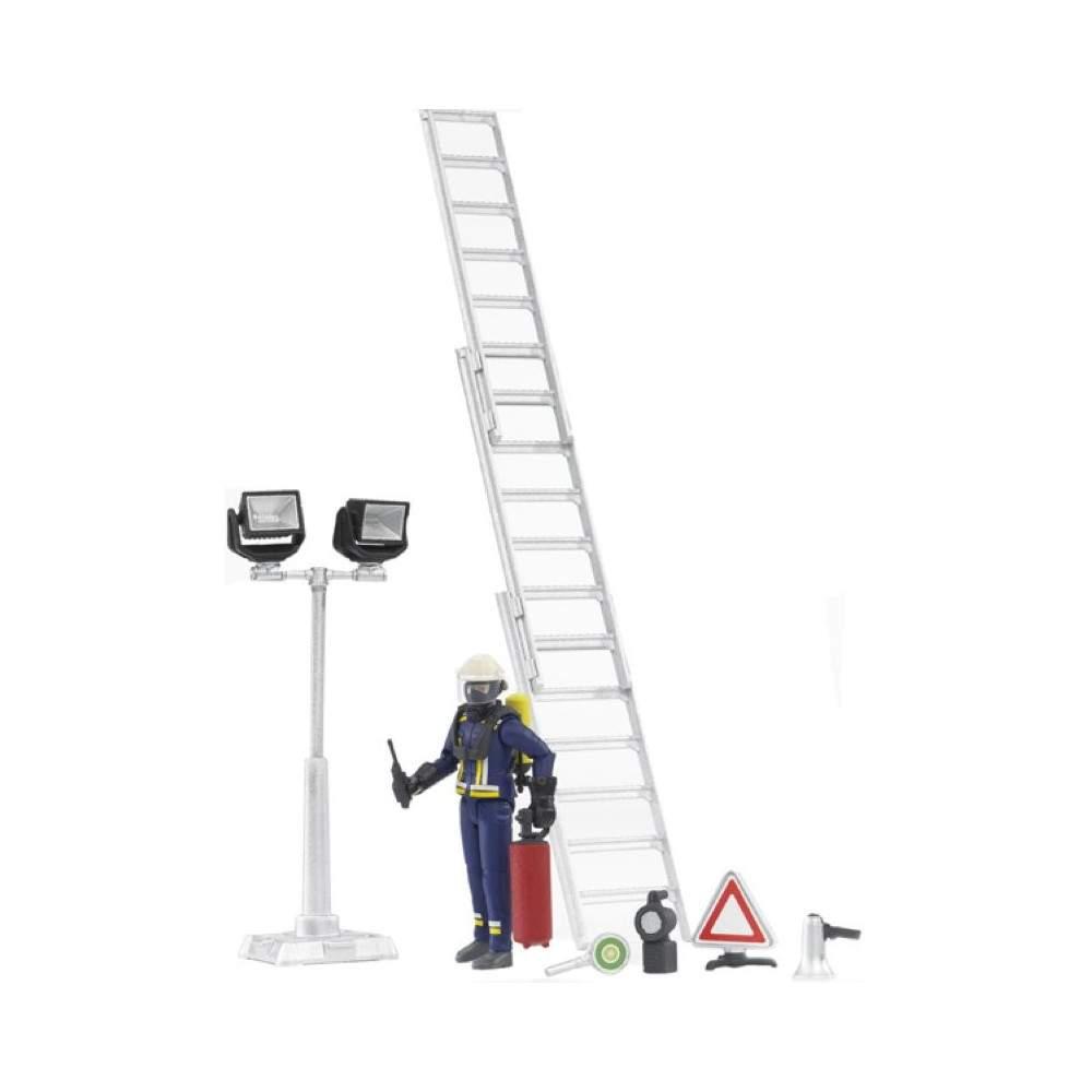 Bombero con accesorio y escalera - escala 1:16