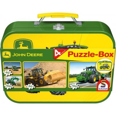 4 Puzzle caja - en una caja de metal