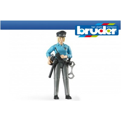 Mujer Policia de piel clara con accesorios - escala 1:16