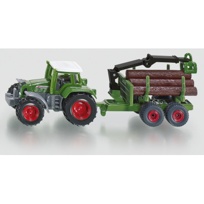 Tractor Fendt con remolque forestal - Blister