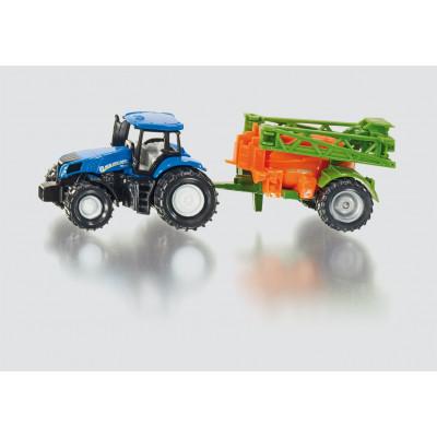 Tractor New Holland con sulfatadora Amazone - escala 1:87