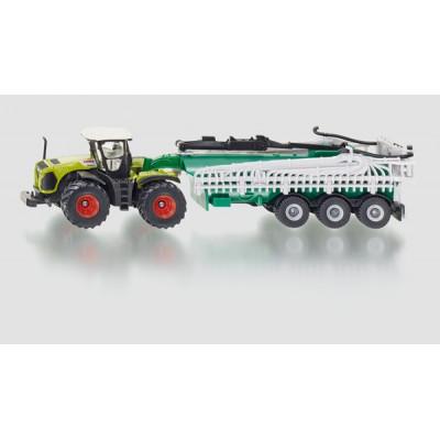 Tractor Claas Xerion con cisterna - escala 1:87