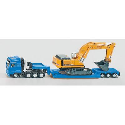 Camion con Excavadora Liebherr - escala 1:87