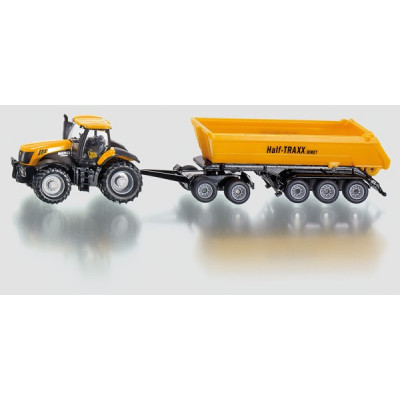 Tractor JCB con remolque banera - escala 1:87
