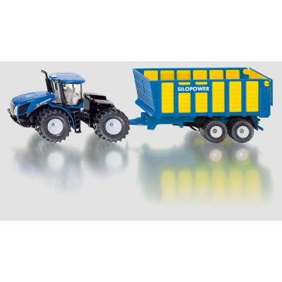 Tractor New Holland con remolque - escala 1:50