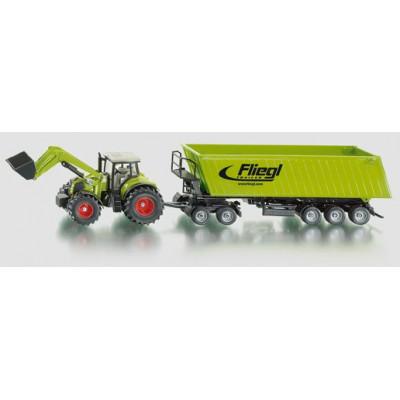 Tractor Claas con remolque Fliegl - Escala 1:50
