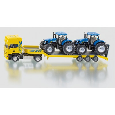 Camion con 2 tractores New Holland - escala 1:50