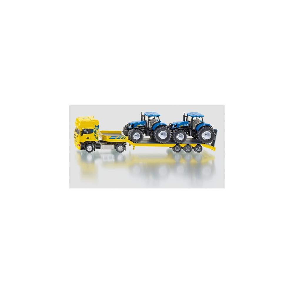 Camion con 2 tractores New Holland - escala 1:50