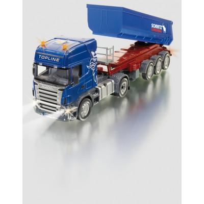 Camion Scania Radio Control con remolque bañera - escala 1:32
