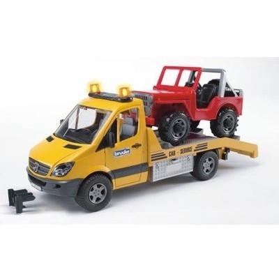 Camion Mercedes Benz Sprinter grua con todoterreno - Escala 1:16