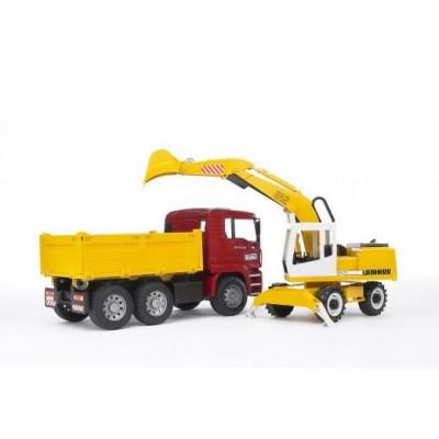 Camion Man TGA y Excavadora Liebherr - escala 1:16