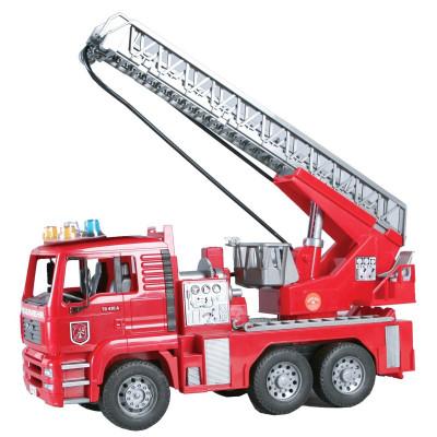 Camion Bomberos MAN con escalera y luz sonido - escala 1:16