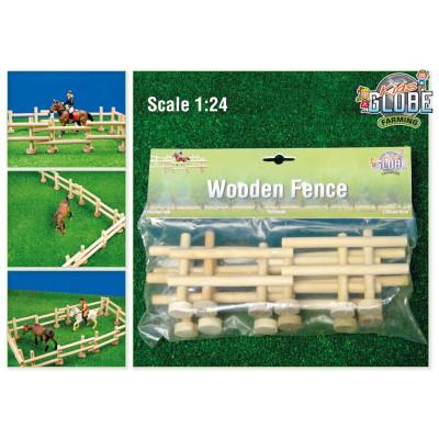 Set cerca madera, 4 unidades - escala 1:24