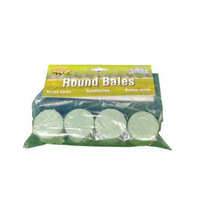 Pacas redondas plastificadas 4 unidades - escala 1:32