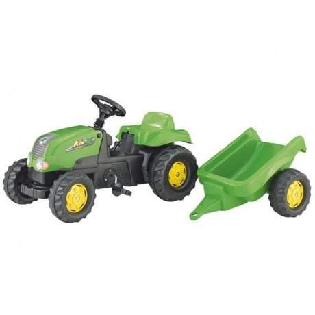 Tractor verde remolque