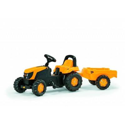 Tractor pedales JCB con remolque