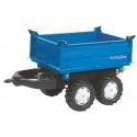 Remolque Azul 2 ejes para tractor a pedales