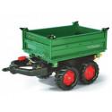 Remolque 2 ejes Verde para tractor a pedales