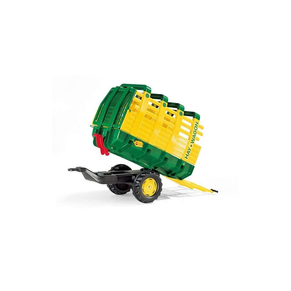 Remolque  basculante Verde para tractor a pedales