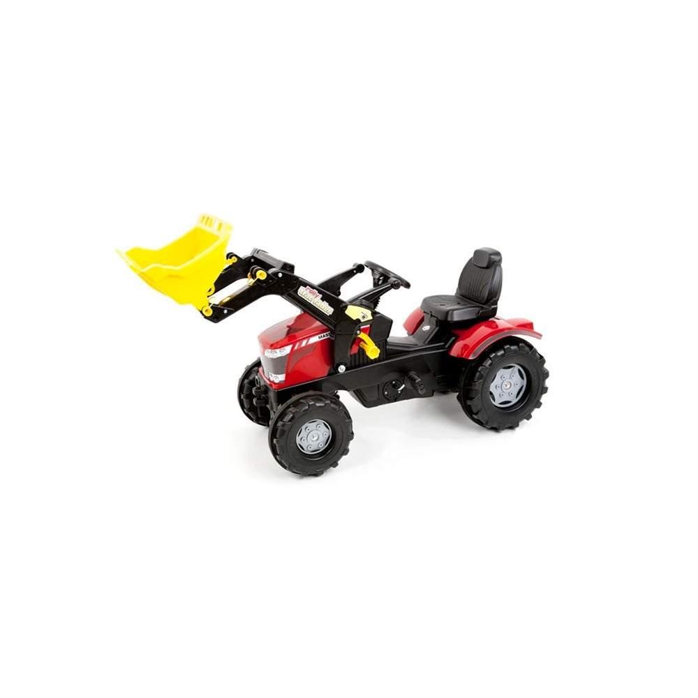 Tractor Massey Ferguson 8650 con pala a pedales