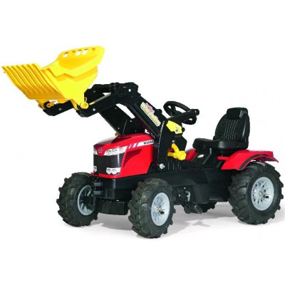 Tractor Massey Ferguson 8650 con pala a pedales y ruedas neumaticas