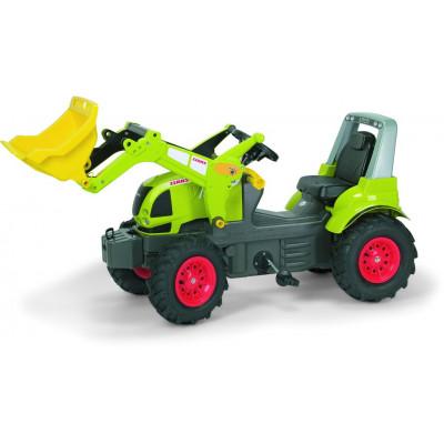 Tractor Claas Arion 640 con pala a pedales y ruedas neumaticas