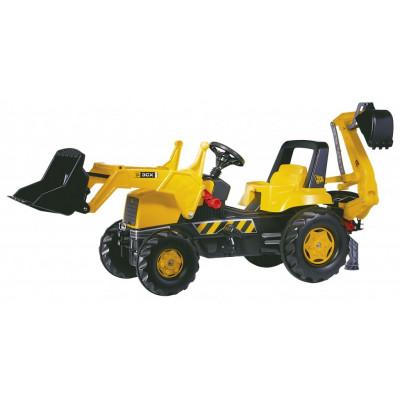 Tractor New Holland B110 con pala y excavadora a pedales