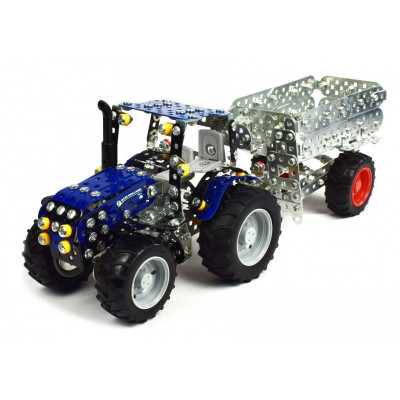 NEW HOLLAND T4 con remolque - escala 1:32