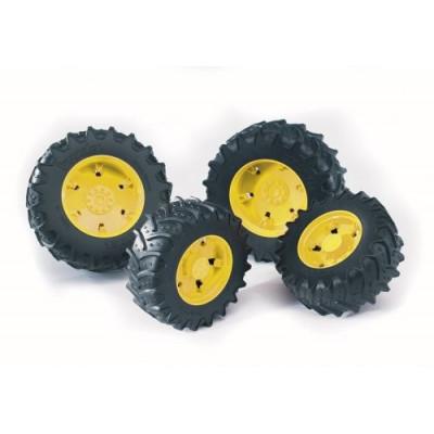 Ruedas dobles para serie 3000 llanta amarillas - escala 1:16