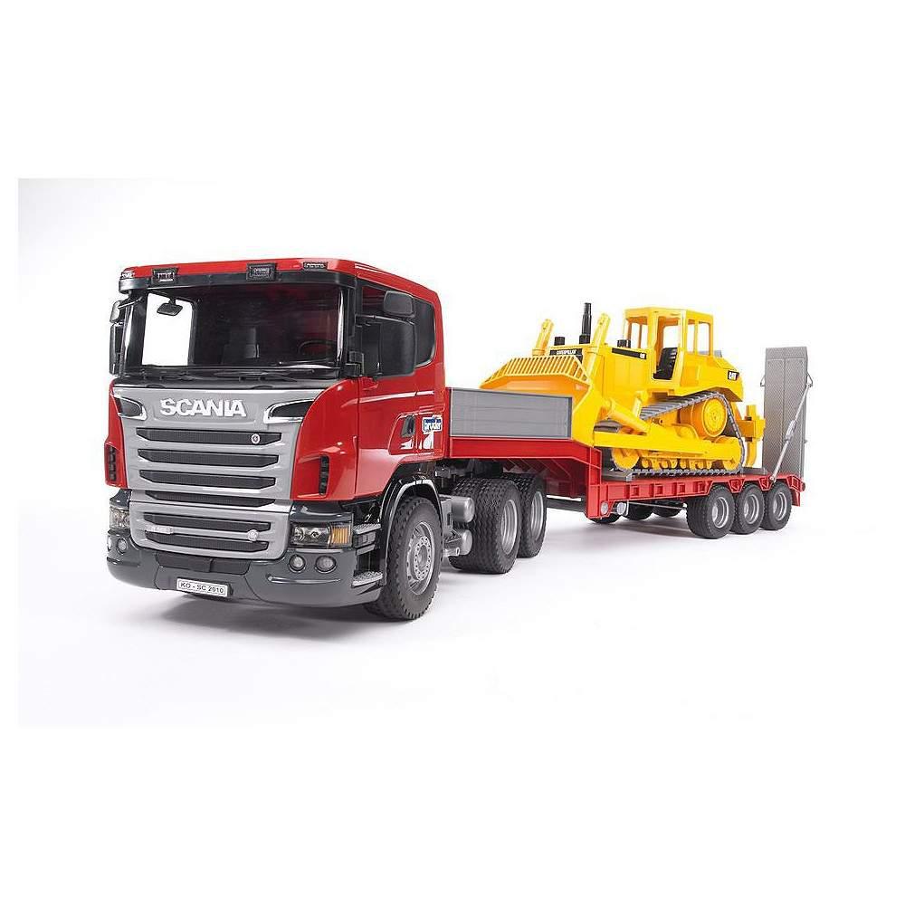 Camion Scania con Bulldozer Caterpillar - Escala 1:16