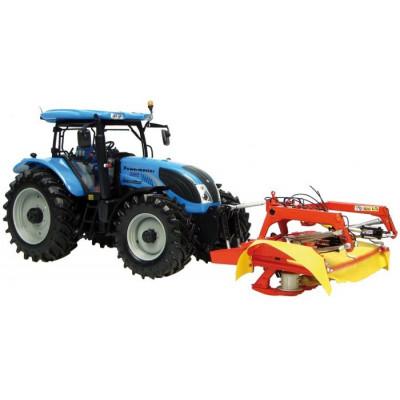 Tractor Landini Powermaster y Rotativa Fella SM 310 - escala 1:32