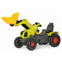 Tractor Claas Axos con pala a pedales