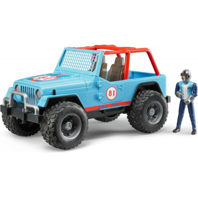 Jeep Cross Country Racer azul con piloto escala 1:16