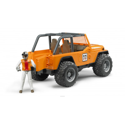 Jeep Cross Country Racer naranja con piloto escala 1:16