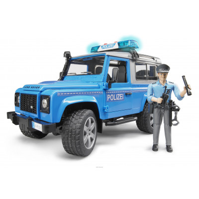 Land Rover Defender Station Wagon policía con muñeco escala 1:16