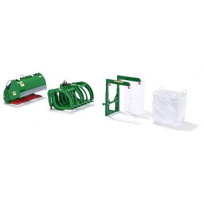 Cargadores de herramientas de la serie B John Deere verde