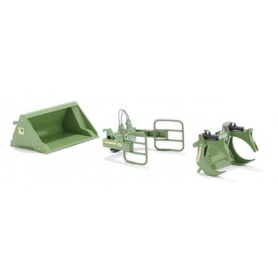 Un conjunto de herramientas cargador Bressel y verde Lade