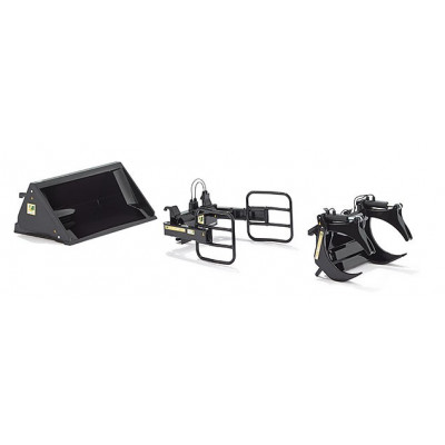 herramientas para pala delantera Set en negro escala 1:32