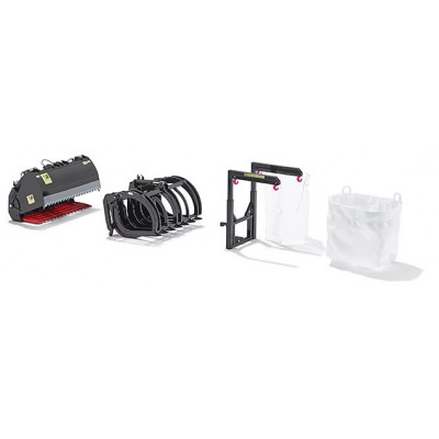 herramientas para pala delantera de la serie B negro