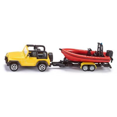 Jeep con el barco - Blister
