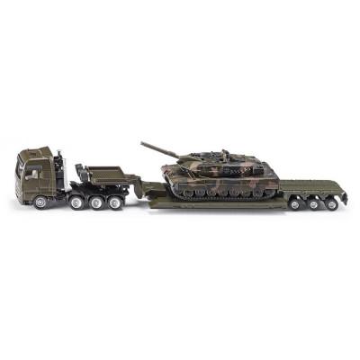Camion de plataforma rebajada con tanques - escala 1:87