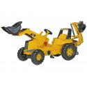 Tractor Caterpillar con pala y retroexcavadora a pedales