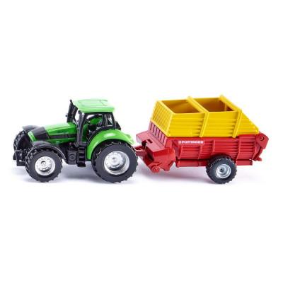 Tractor deuzt con autocargador Pottinger